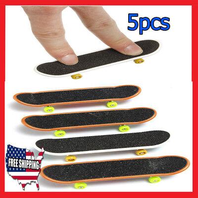 lot (5pcs) Pack Finger Skateboard Board Deck Truck Kids Toy Birthday Gift 117