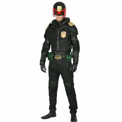 XCOSER Judge Dredd Costumes Cosplay Uniform Garment Halloween Costume for Men - Dredd Costume Halloween