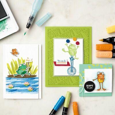 Hop Around Frog Metal Cutting Dies And Stamps Unicycle DIY Paper Craft - Metallic Paper