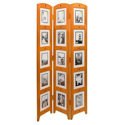 Kieragrace Kg Providence Photo Triple-panel Wood Room Divider - Chestnut