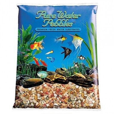 BULK Pure Water Pebbles Aquarium Gravel Cumberland River Gems 25 lbs ( 5 x - Pebble 5 Lb Aquarium Gravels