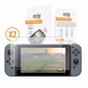 Nintendo Switch Glass Screen Protectors X2 By Orzly