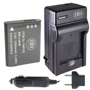 LI-92B Battery and Charger Kit for Olympus Tough Cameras