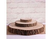 Wedding wooden log slices