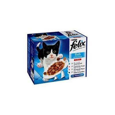 Felix Adult Pouch Fish Select Cat Food 100gm 12 Pack (1.2kg)