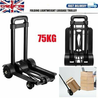 75KG Adjustable Luguagge Trolley Sack Truck With Wheel Folding Handcart Barrow