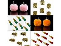 Charms for jewelry making and embellishments on apparels
