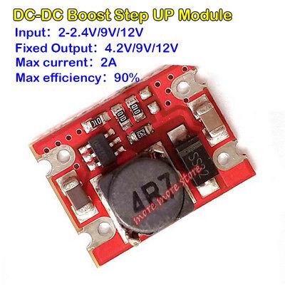 2a Dc-dc 4.2v 5v 9v 12v Boost Voltage Converter Mini Step Up Power Supply Module