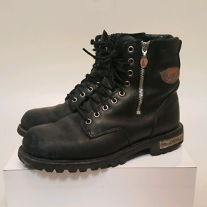Red Wing Leather Moto Winter Zip Combat Boots    ( Mens    Sz 9)