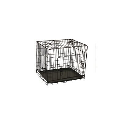ALEKO 3 Door Folding Dog Cat Suitcase Cage Crate With Abs Tray 24