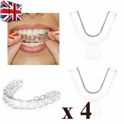 4 x Gum Shield Teeth Whitening Mouth Trays Guard Bleaching Grinding UK Seller