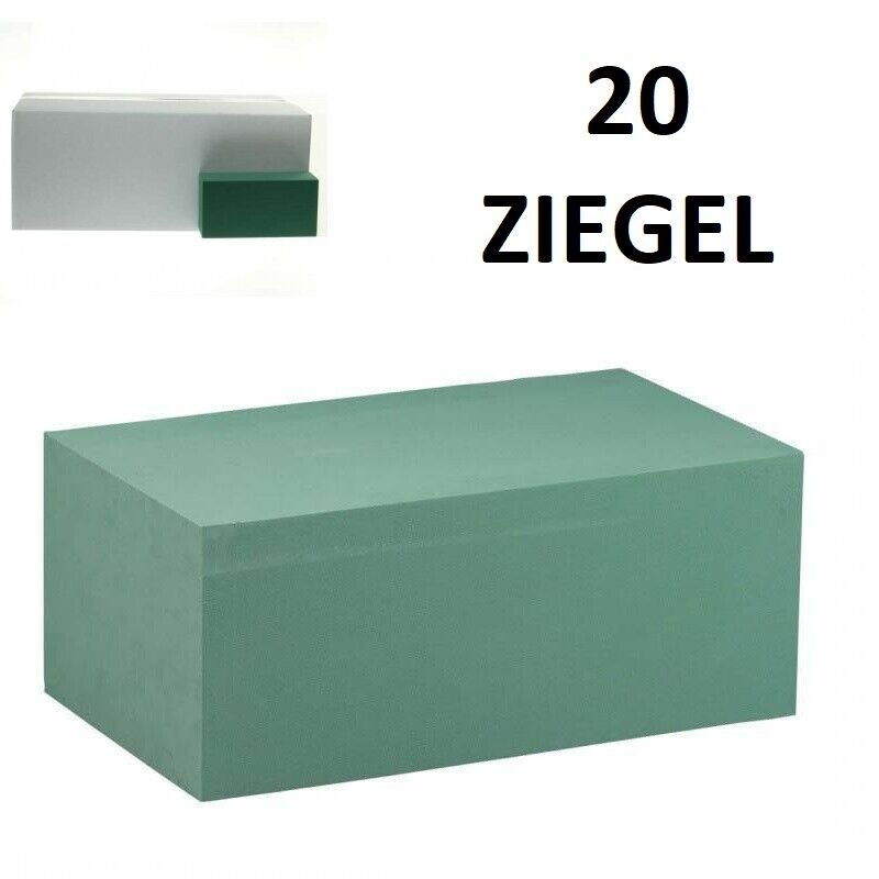 Steckschaum - Ziegel, 1 Wahl, Steckmasse, Blumen-Steckschaum, 20 Stck
