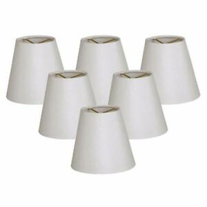 "New, 6 PC Royal Designs 5"" Shantung Empire Candelabra Shade"