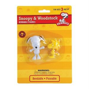 New-Snoopy-and-Woodstock-Peanuts-Gang-Bendable-Figures-Toy-Charlie-Brown-Gift