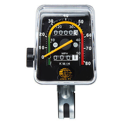JY-092 Resettable Speedometer Odometer Gauges Analog Classic Style For Bike