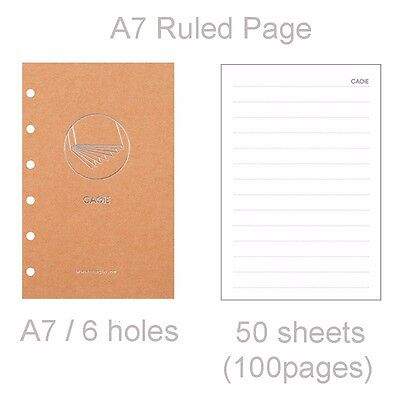 A7 Pocket Diary Notebook Insert Refill Ruledblank Paper Note Planner 50 Sheets