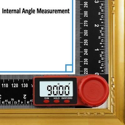 "0-360° Digital Protractor Angle Finder 0-200mm/7"" Ruler Measure Woodworking"