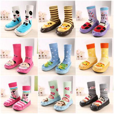 Cartoon Baby Toddler Kids Anti-slip Crawling Socks Shoes Slipper Boots