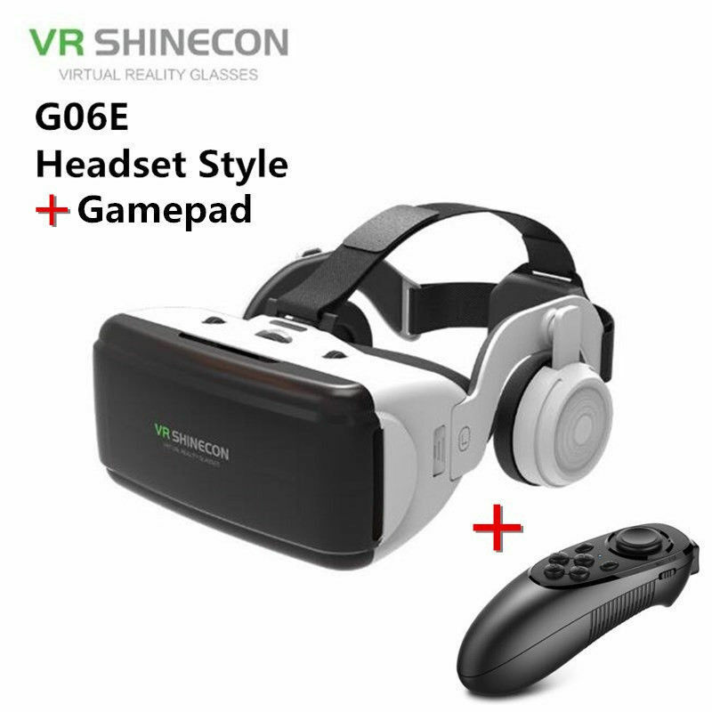 Virtual Reality VR Headset t Goggles 3D Glasses With Remote For Android iPhone