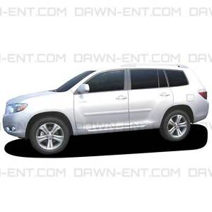 Toyota Highlander Painted Body Side Mouldings Molding 2 1