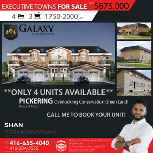 New built town homes for only $675,000