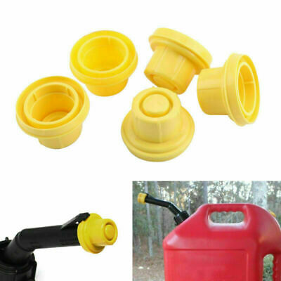 5x Yellow Spout Cap Top For Blitz Fuel Gas Can 900302 900092 900094 Ca T4