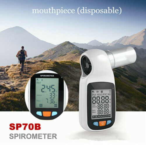 Bluetooth Digital Spirometer Lung Function Breathing Pulmonary Diagnostic SP70B
