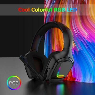 RGB LED Gaming Headset for Xbox One PS4 PC Laptop 3.5MM Wired Gaming Headphone