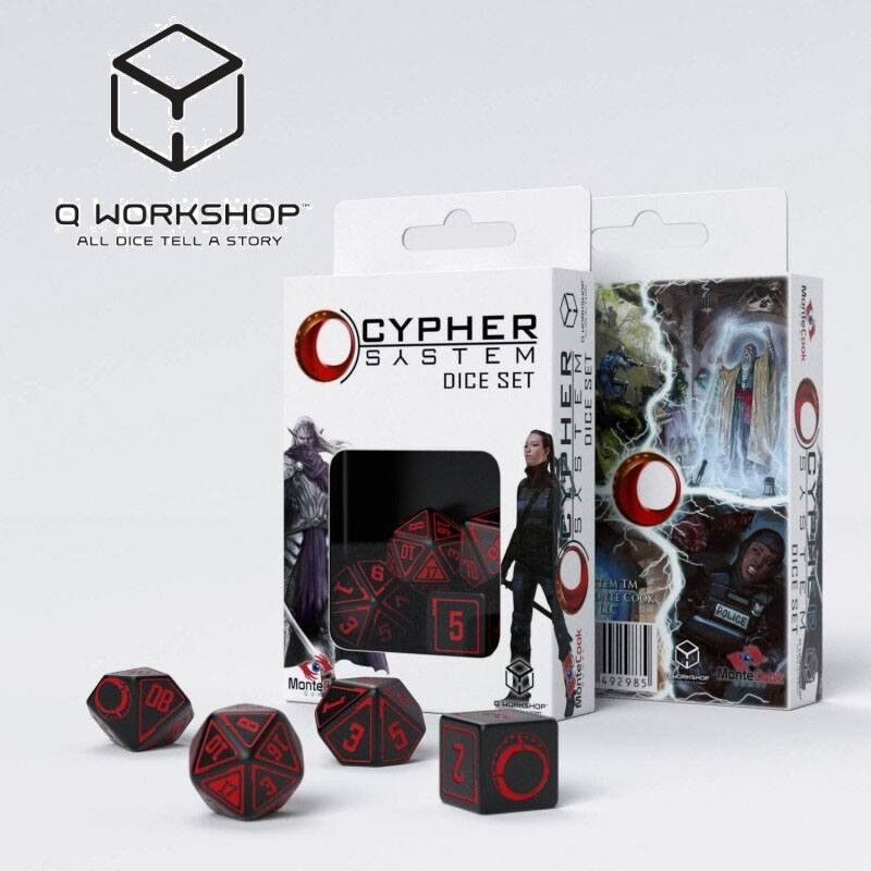 Classic RPG Rollenspiel Würfel Set schwarz /& rot 7 Q Workshop