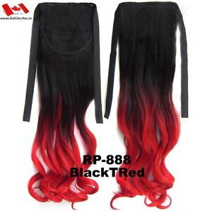"""Clip in hair extension, Straight hair, 60 cm, 24"""", 100g,  RED St. John's Newfoundland image 8"""