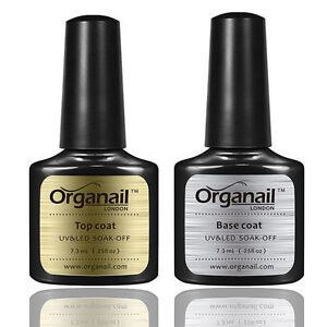 lot 2 vernis a ongle top base coat semi permanent gel uv soak off maquillage ebay. Black Bedroom Furniture Sets. Home Design Ideas