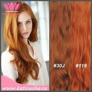 """Clip in hair extension,60 cm,24"""",NEW COLORS!!! AUBURN,COPPER RED Yellowknife Northwest Territories image 5"""