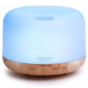 ASAKUKI 500ml Premium, Essential Oil Diffuser, 5 In 1 Ultrasonic