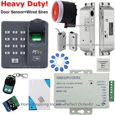 Fingerprint+RFID Card Access Control System+Drop Bolt Lock+Door Sensor+Siren