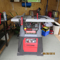 CRAFTSMAN 10 INCH TABLE SAW AND STAND
