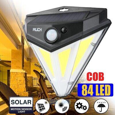 84 COB LED Solar PIR Motion Sensor Wall Light Outdoor Garden Lamp Diamond Shape