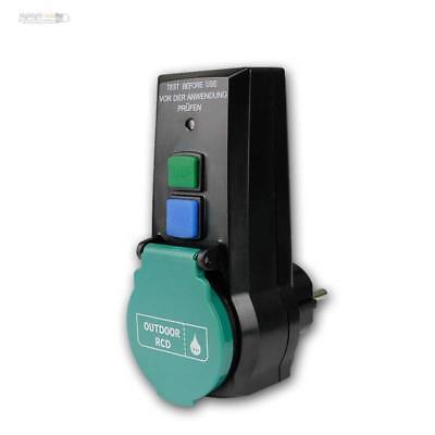 Außen Zwischenstecker mit EIN//AUS-Schalter beleuchtet 230V IP44 Steckdosen