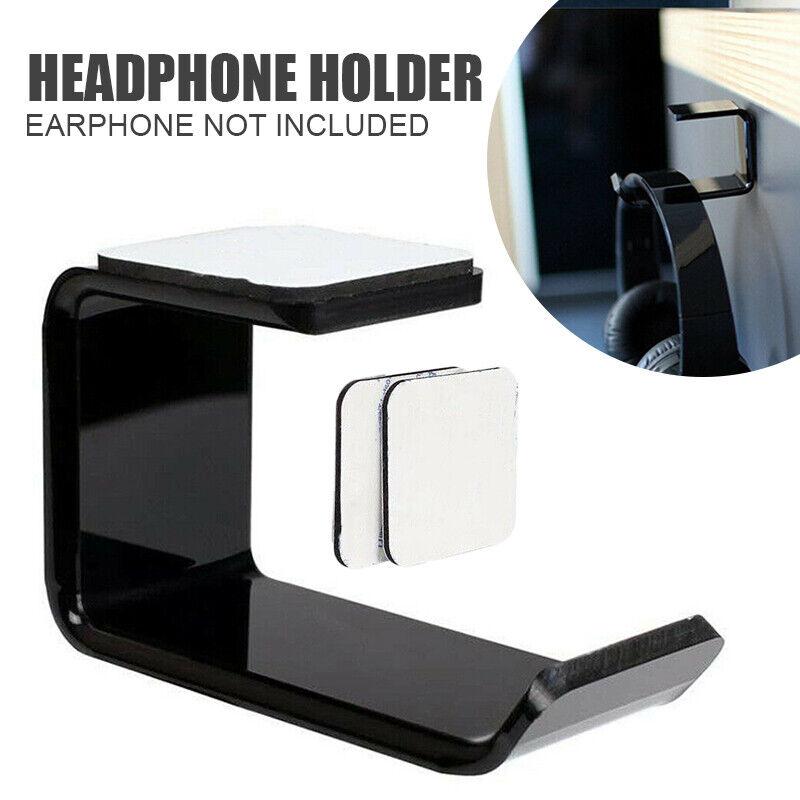 US Headphone Stand Hanger Clever Holder Hook Dual Headset Un