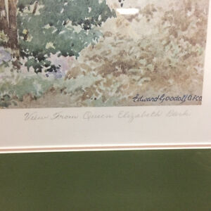 "Edward Goodall ""A View From Queen Elizabeth Park"" Framed Print London Ontario image 3"