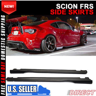 Fit For 13-19 Scion FRS Subaru BRZ GT86 FT86 GR Style Side Skirts PU