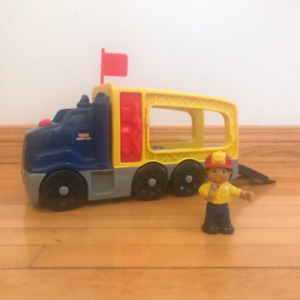 Camion de remorquage Little People de Fisher Price