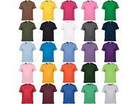 Crew Neck Solid Multi Colour T-shirt Wholesale