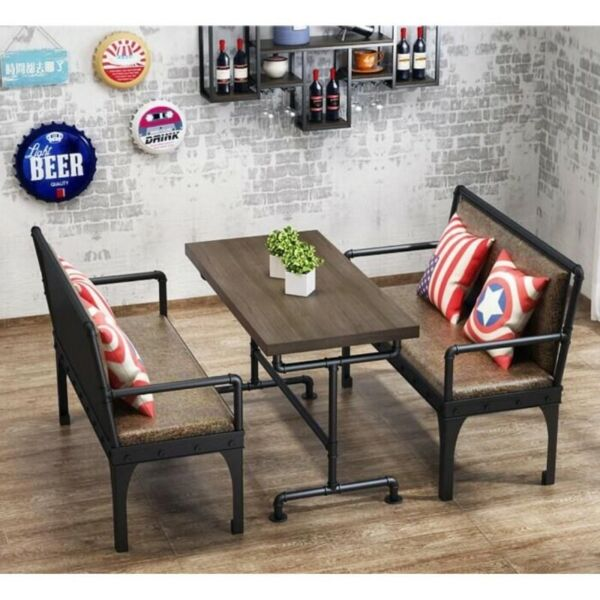 KZ007 Cafe/Pub/Restaurant Dining Bench w Backrest, Sofa