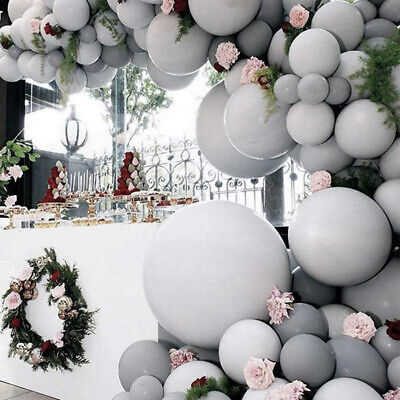 5/12/18 inch Large Big Grey Balloons Arch Round Latex Baby Shower Wall Backdrop - Big Round Balloons