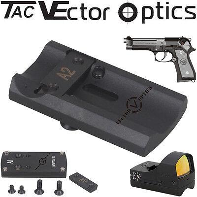 Tactical Red Dot Scope Reflex Sight Pistol BERETTA 92 Slide Mount Base