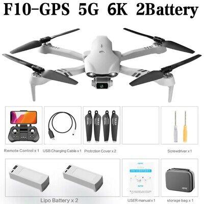 2021 New F10 Pro 5G WiFi FPV Mini RC Drone GPS 6K HD Camera RC Quadcopter Toys