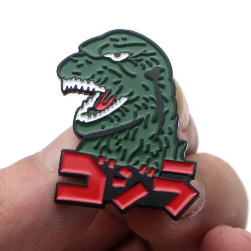 Godzilla Monsters Enamel Pins Anime Cosplay Metal Brooch for Backpack Bags Hats