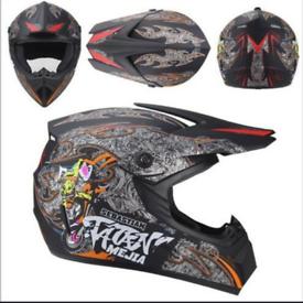 AHP 225 motorcycle motorcross helmet orange