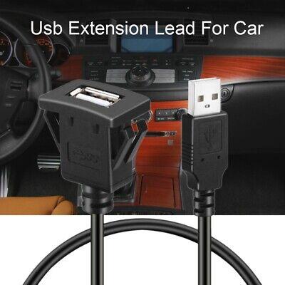 Car Dash board Flush Mount USB Male to Female Socket Extension Panel Cable K1M5 K1m Usb