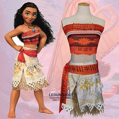 Kids Moana Princess Hawaii Maui style savage Girls Adult Top and skirts - Barbarian Princess Costume
